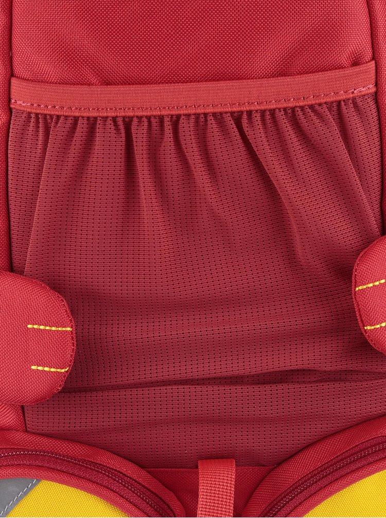 Červený batoh ve tvaru dráčka Affenzahn