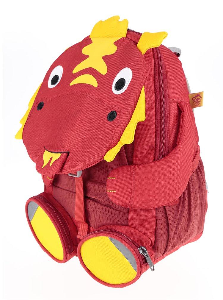 Rucsac roșu Affenzahn în formă de dinozaur