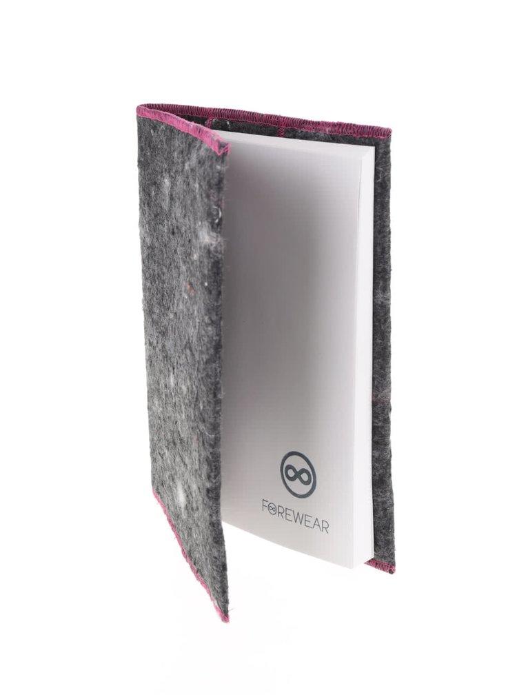 """""""Dobrý"""" růžovo-šedý zápisník FOREWEAR"""