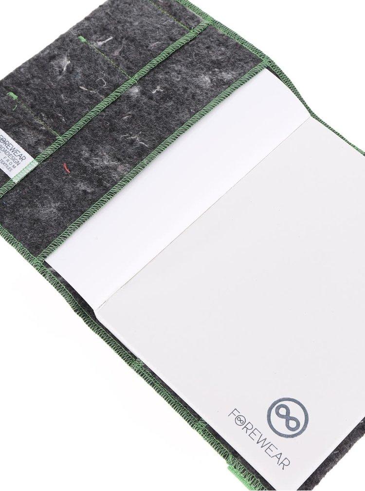 """""""Dobrý"""" zeleno-sivý zápisník FOREWEAR"""