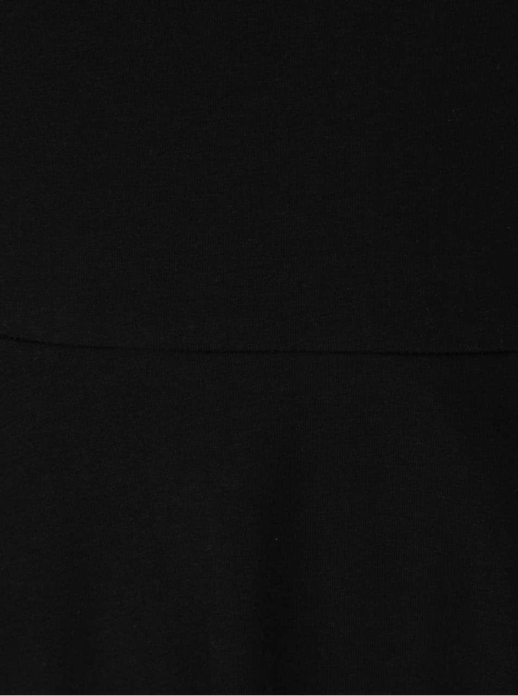 Černé šaty s odhalenými rameny a krajkovým lemem Dorothy Perkins