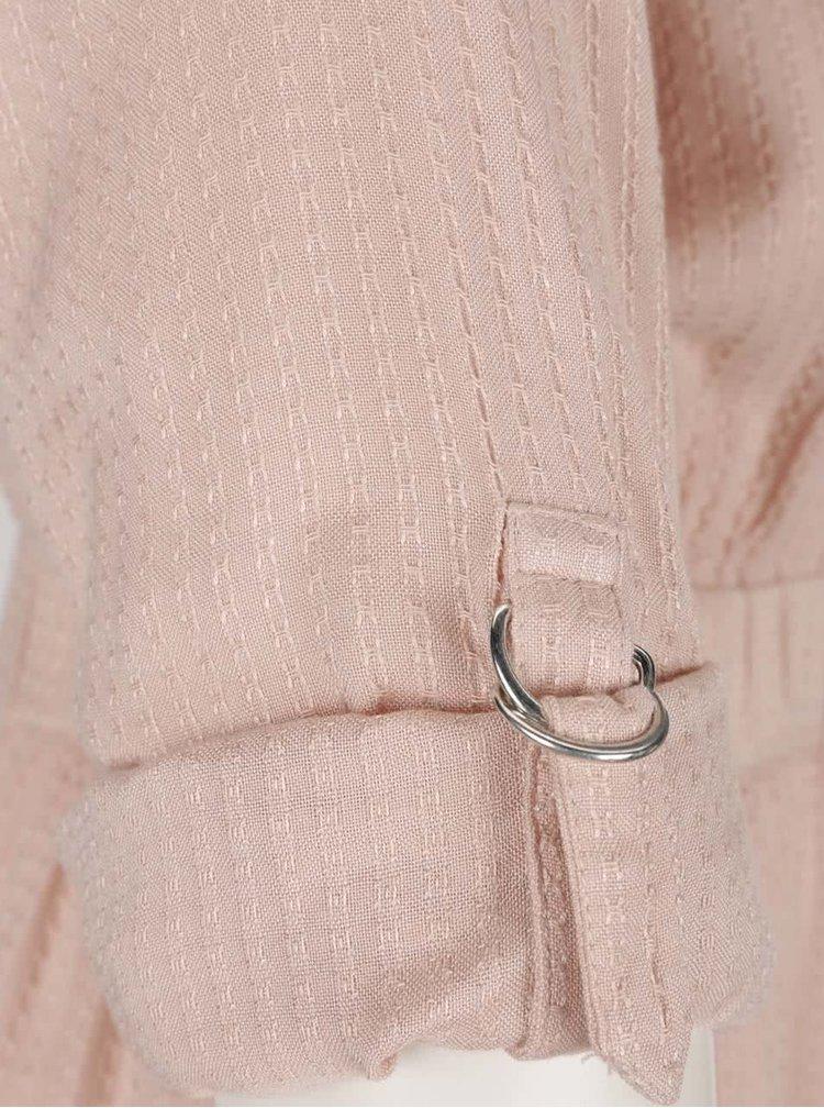Rochie roz VILA Syrma cu model discret