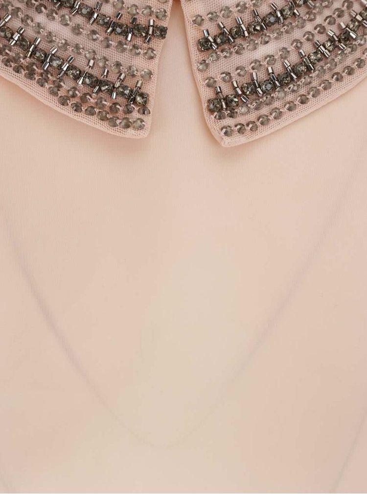 Světle růžový top bez rukávů s detaily VILA Blingers
