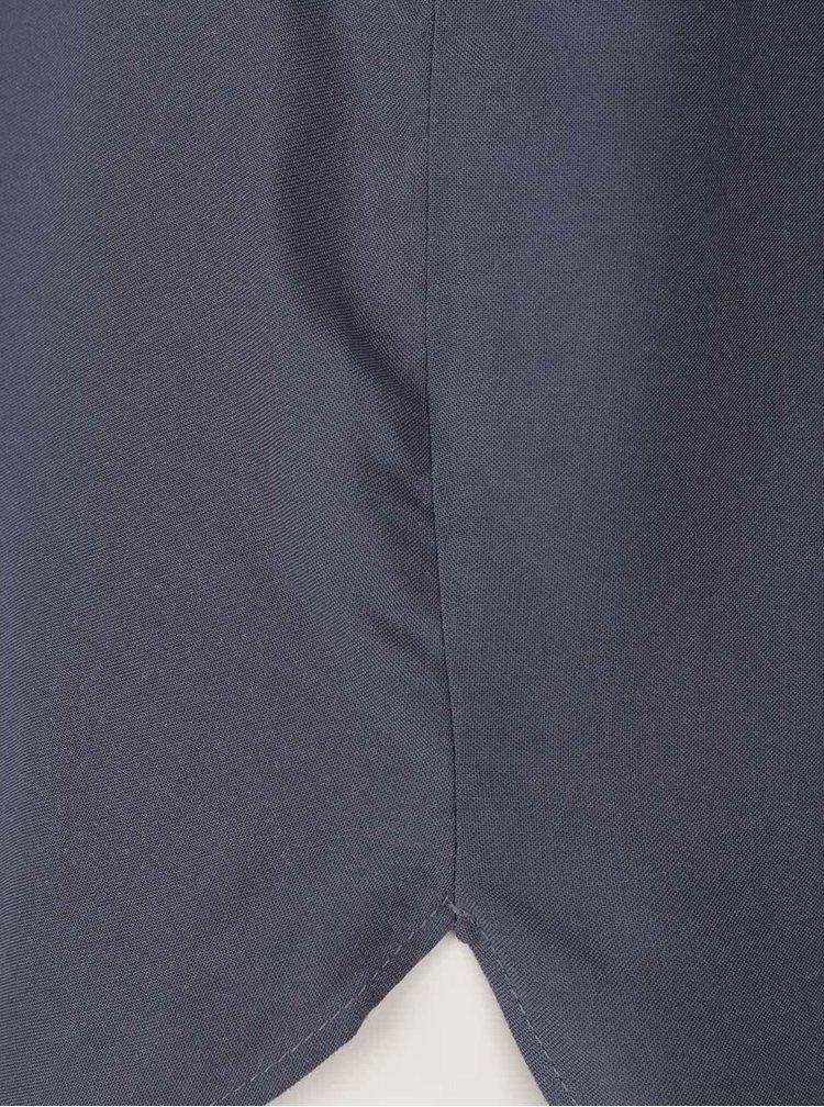 Bluză gri închis VERO MODA Boca cu mâneci scurte