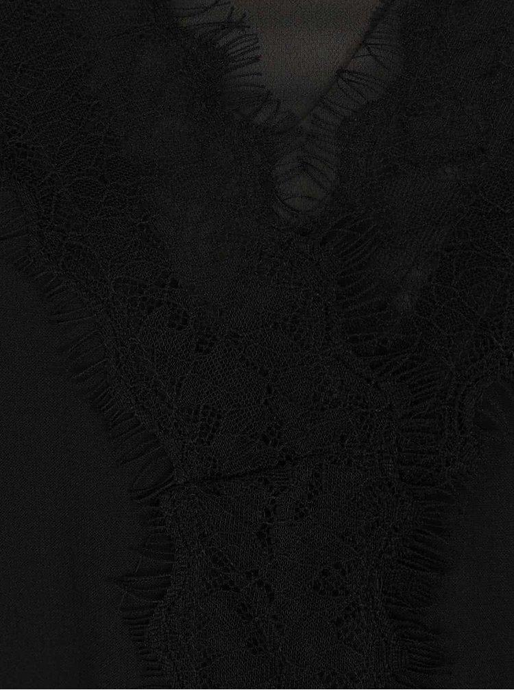 Černá halenka s krajkou VERO MODA Tell
