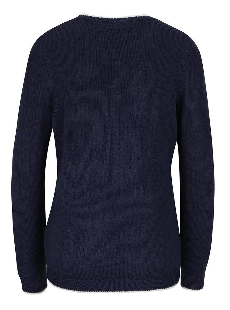 Tmavomodrý sveter s motívom buldoga  Dorothy Perkins