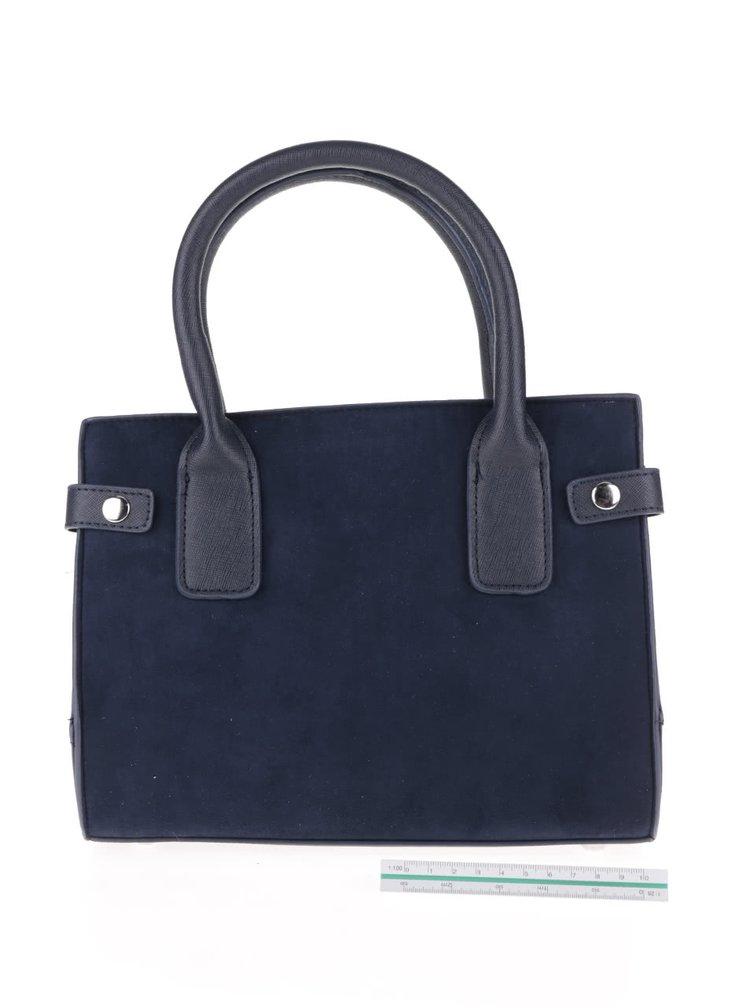 Tmavě modrá menší kabelka v semišové úpravě Dorothy Perkins