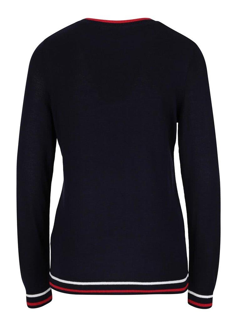 Tmavě modrý svetr s nápisem Dorothy Perkins