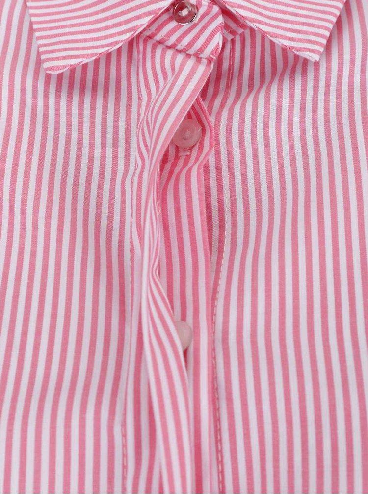 Bílo-růžová pruhovaná košile Dorothy Perkins