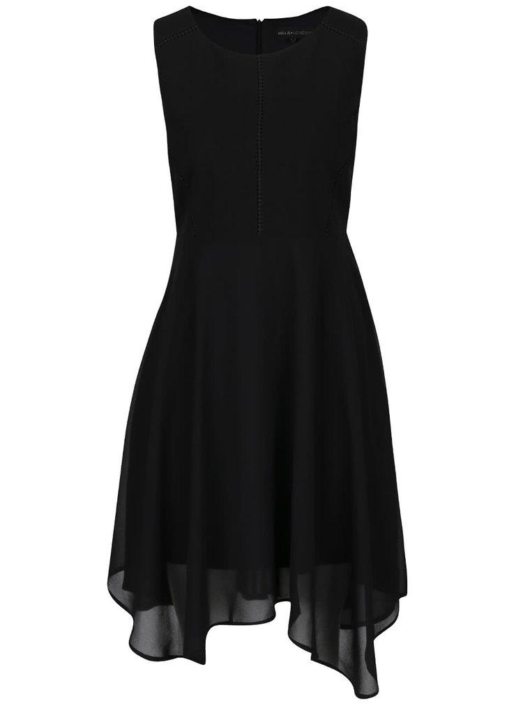 Černé šaty s detaily Mela London