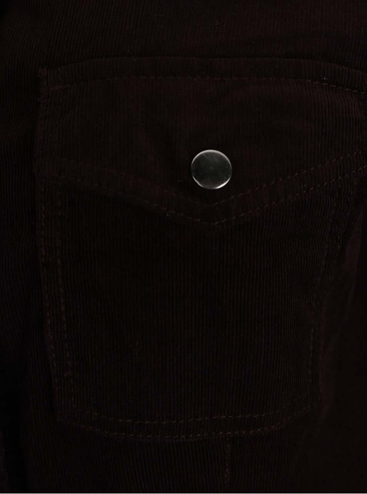 Černofialové propínací šaty na patenty Dorothy Perkins