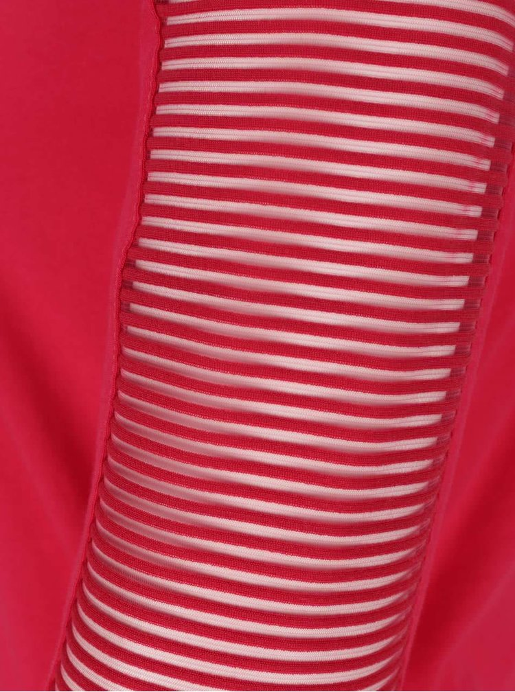 Ružové tričko s priehľadnými 3/4 rukávmi Dorothy Perkins