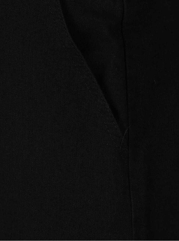 Černé džínové mini šaty s laclem a výšivkou růže Dorothy Perkins