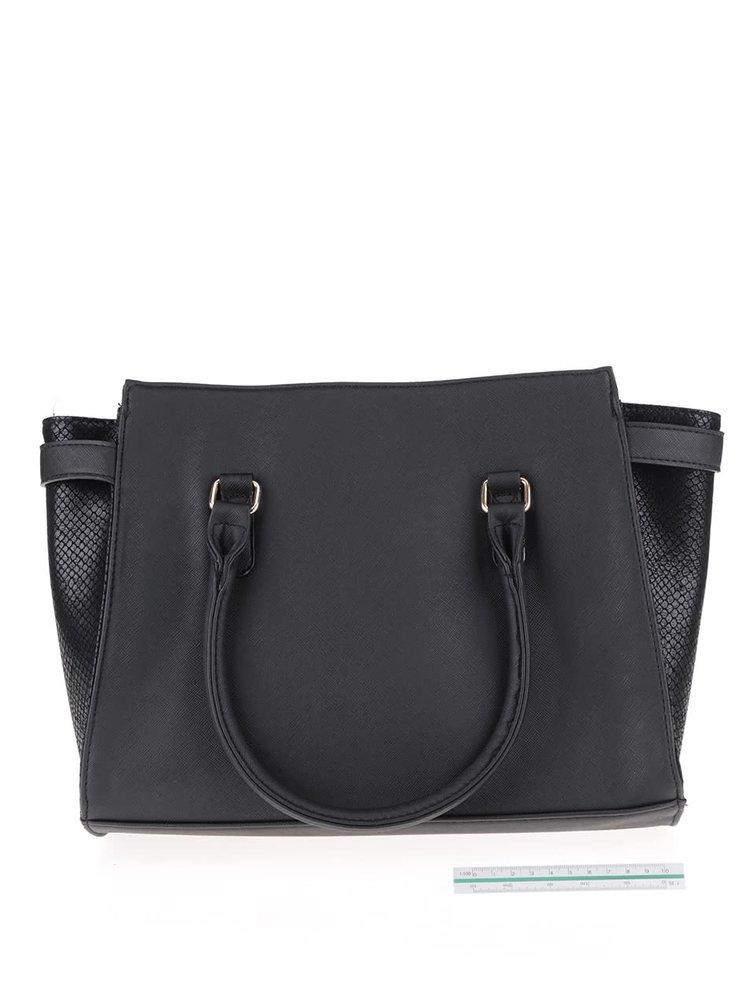 Černá koženková kabelka Dorothy Perkins