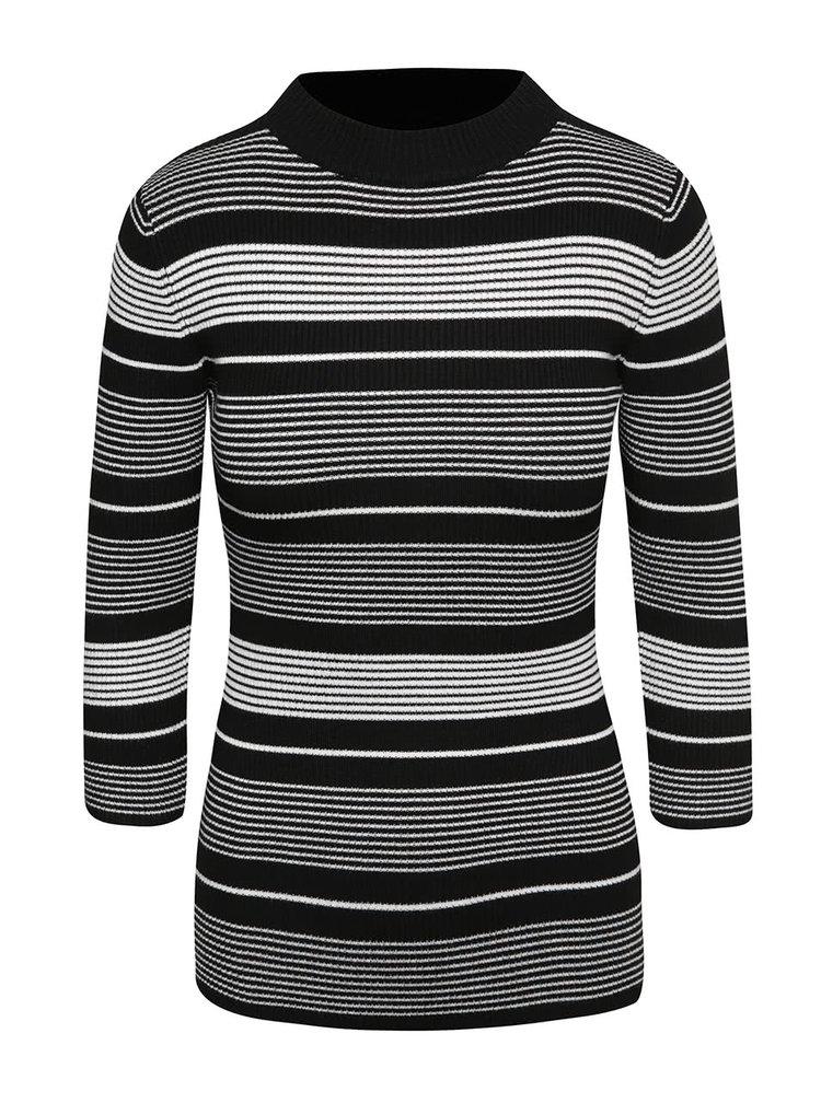 Černo-bílý svetr s 3/4 rukávy Haily´s Alice