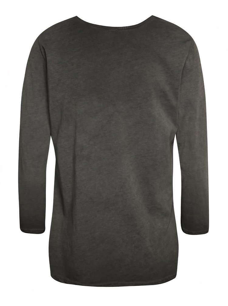 Šedé tričko s 3/4 rukávy a flitry Haily´s Lina