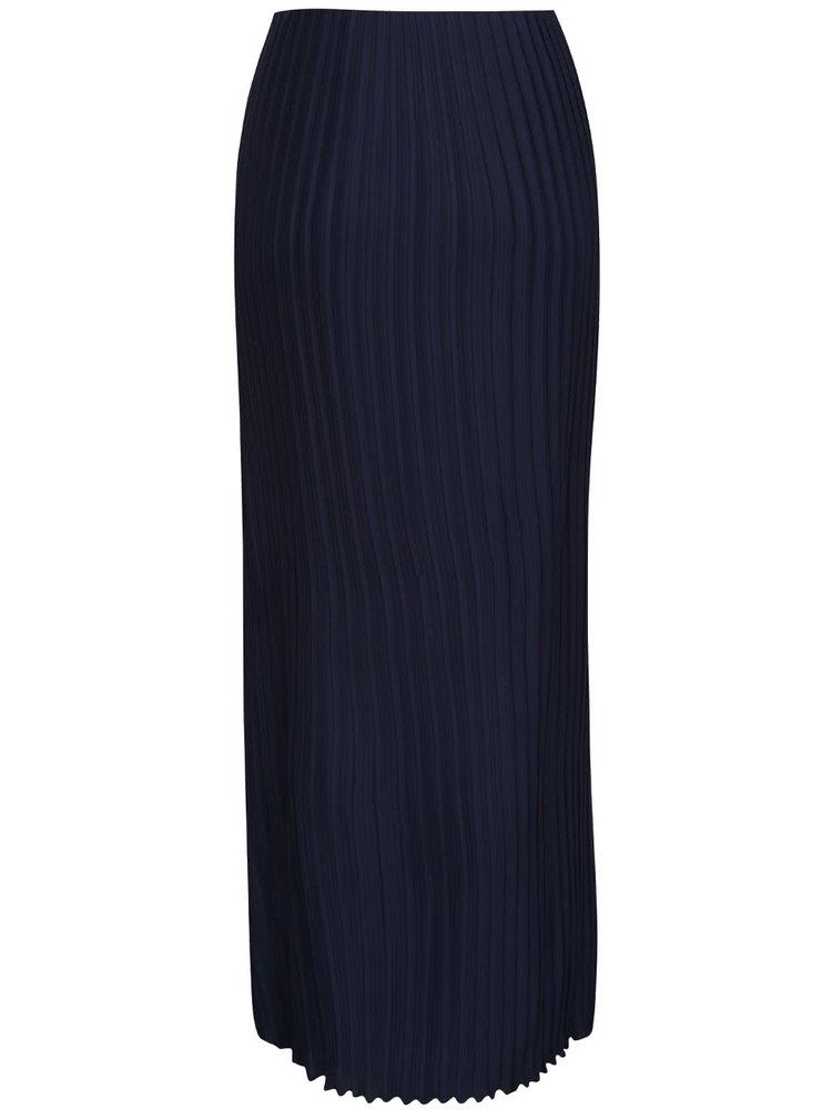 Tmavě modrá dlouhá plisovaná sukně Dorothy Perkins