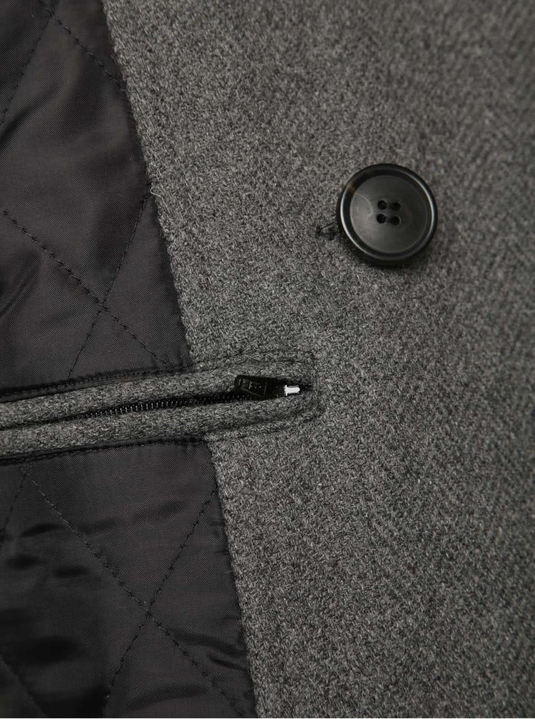 Šedý kabát Selected Homme New Mercer