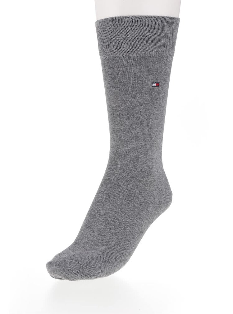 Sada dvou párů ponožek v šedé barvě Tommy Hilfiger