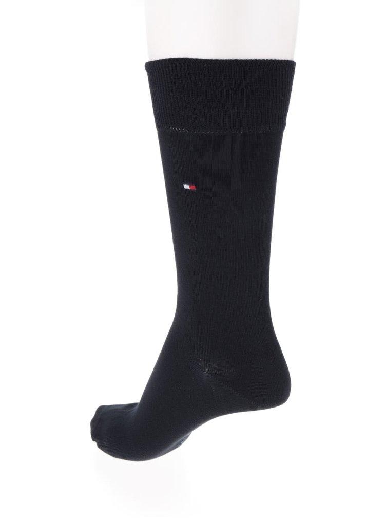 Sada dvou párů ponožek v černé barvě Tommy Hilfiger