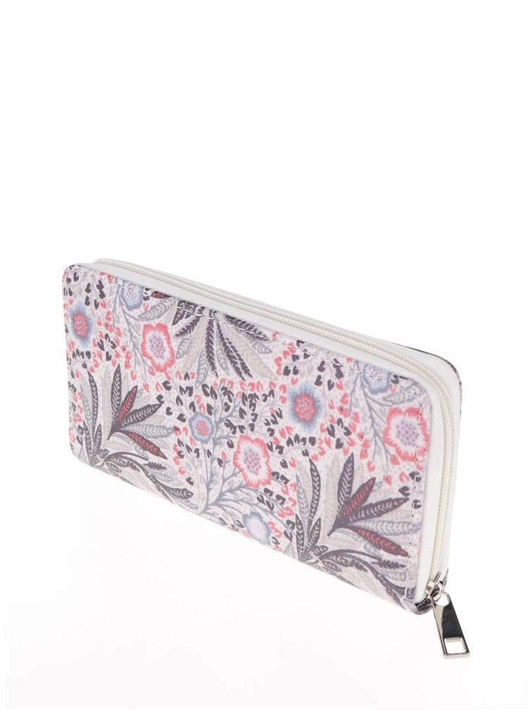 Krémová peněženka s motivem květin Haily´s Nika