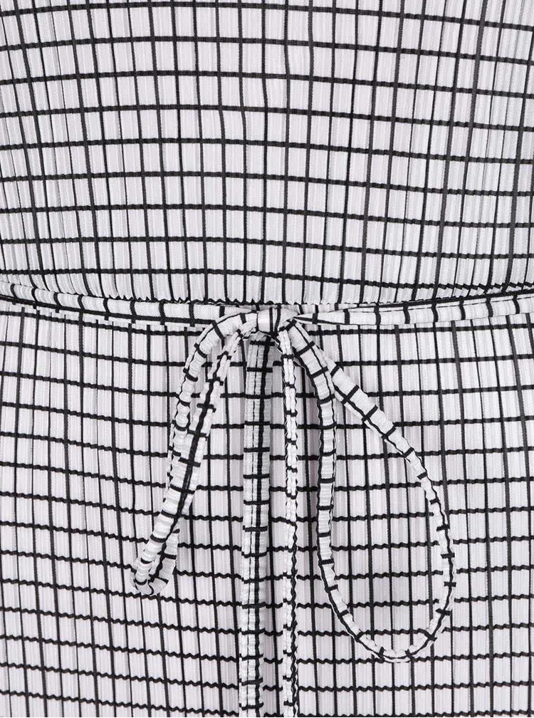 Černo-krémové plisované maxišaty  Dorothy Perkins