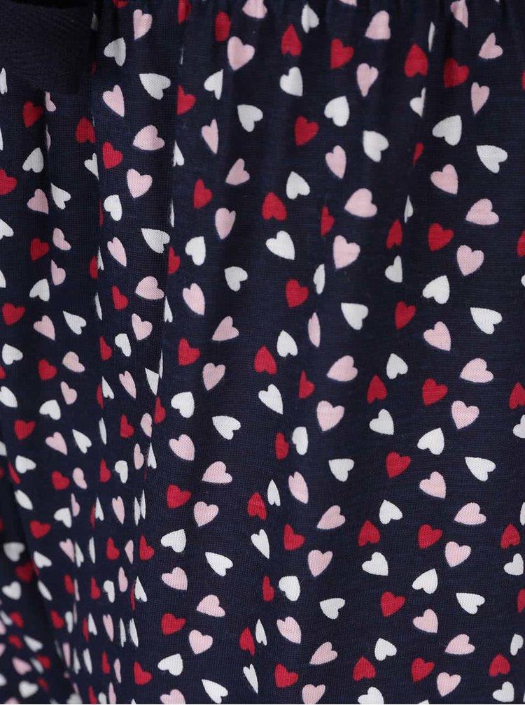 Modro-ružové žíhané pyžamo s motívom raňajok Dorothy Perkins