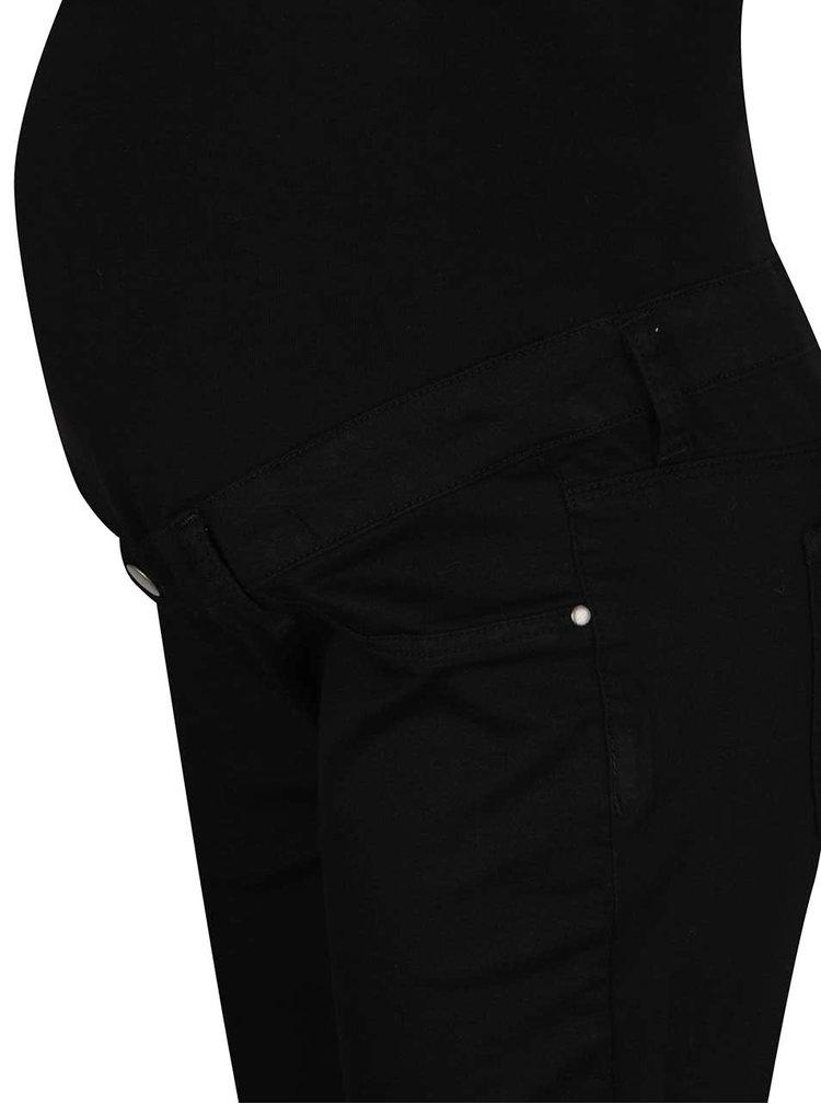 Černé těhotenské super skinny džíny Dorothy Perkins Maternity