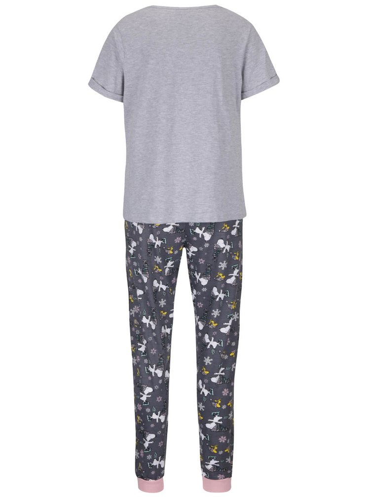 Pijamale gri Dorothy Perkins Snoopy