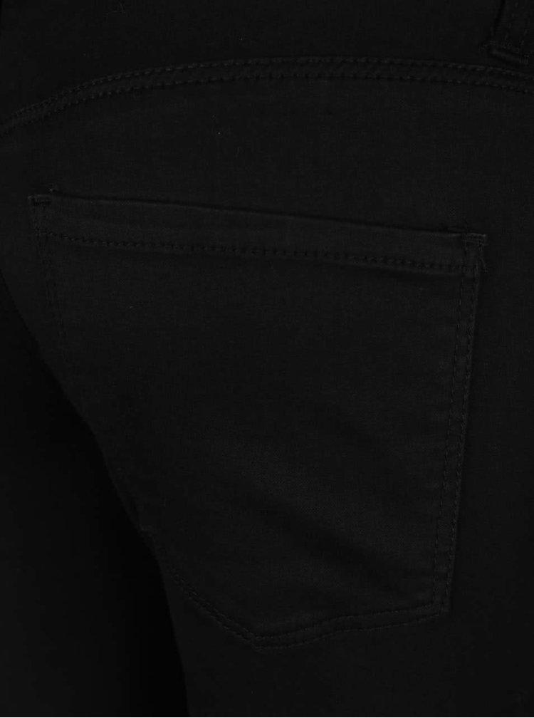 Černé těhotenské super skinny džíny s vyšším pasem Dorothy Perkins Maternity