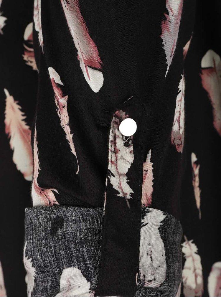 Cămașă neagră cu model Haily´s Sara