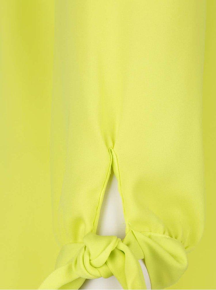 Limetkově zelená halenka s odhalenými rameny Dorothy Perkins