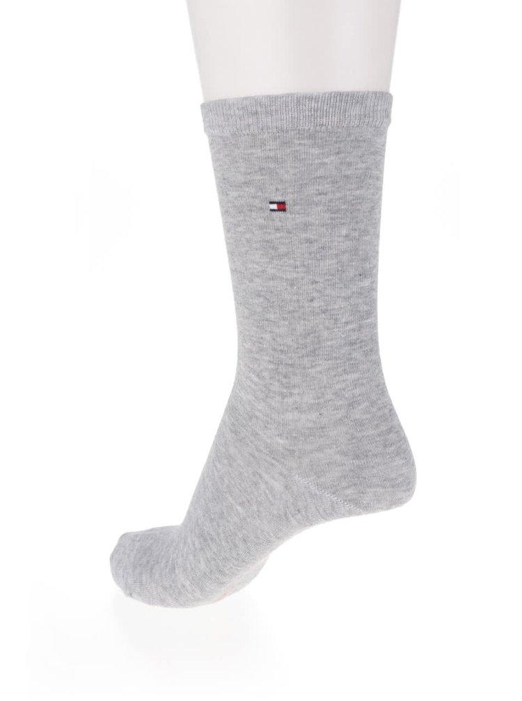 Sada dvou párů dámských ponožek v růžové a šedé barvě Tommy Hilfiger