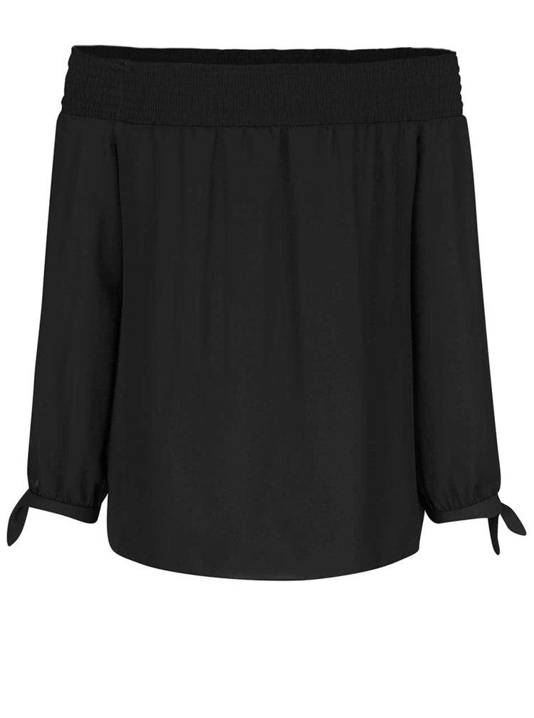 Černé tričko se spadlými rameny Dorothy Perkins