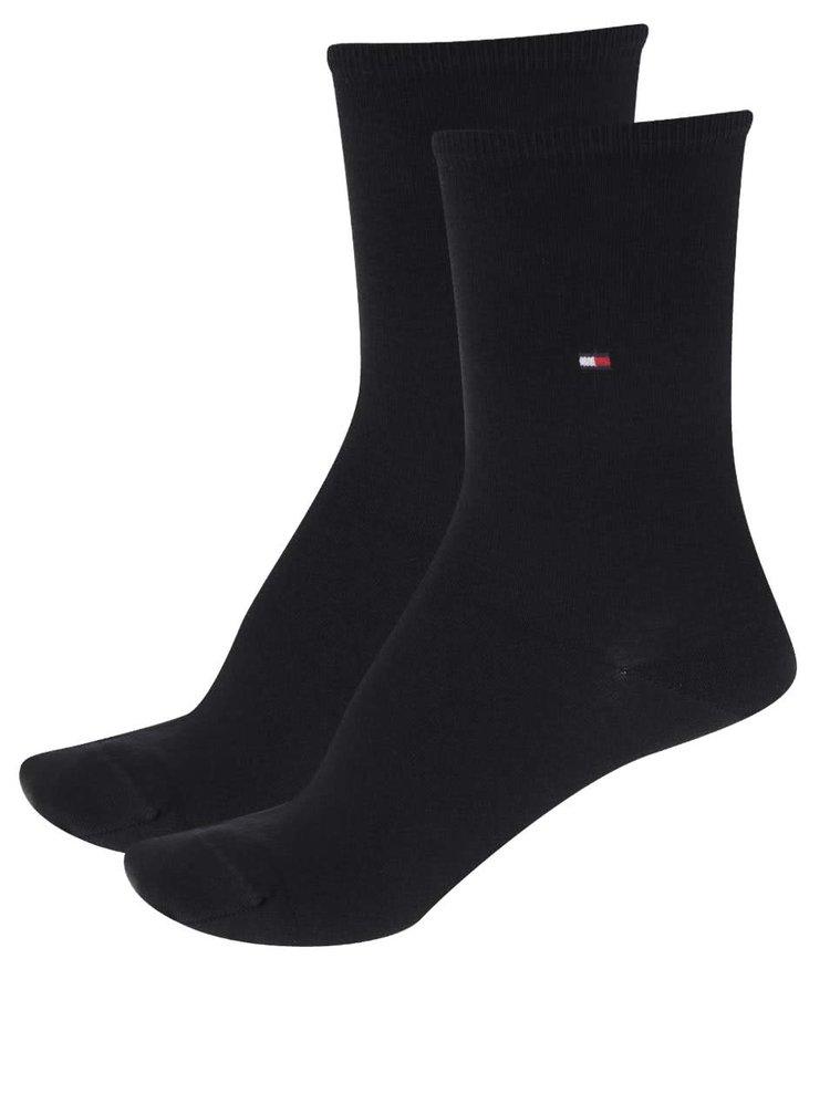 Sada dvou párů dámských ponožek v černé barvě Tommy Hilfiger