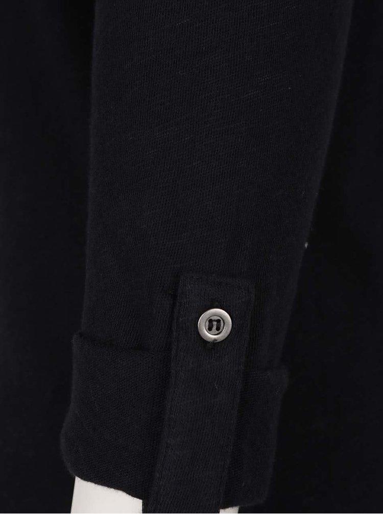 Černé tričko s 3/4 rukávy Haily´s Ocie