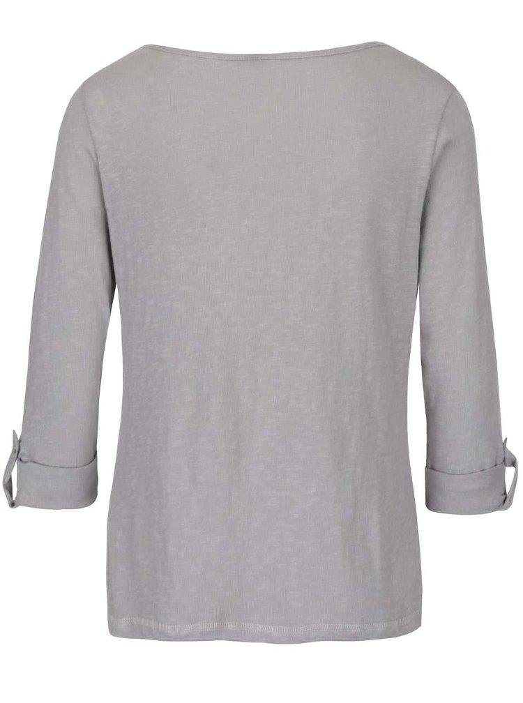 Sivé tričko s 3/4 rukávmi Haily's Ocie