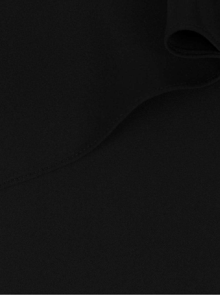 Černý asymetrický top s volánkem Dorothy Perkins