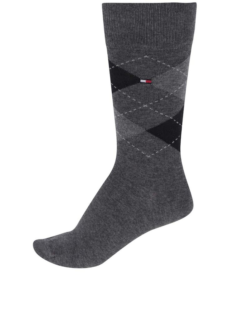 Sada čtyř párů ponožek v šedo-černé barvě Tommy Hilfiger