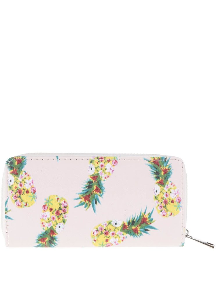 Krémová peněženka s potiskem ananasů Haily´s Nika