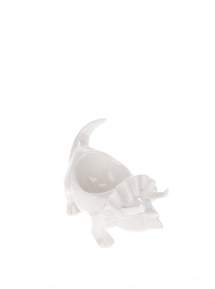 Bílý porcelánový kalíšek na vejce Disaster Dinosaurus