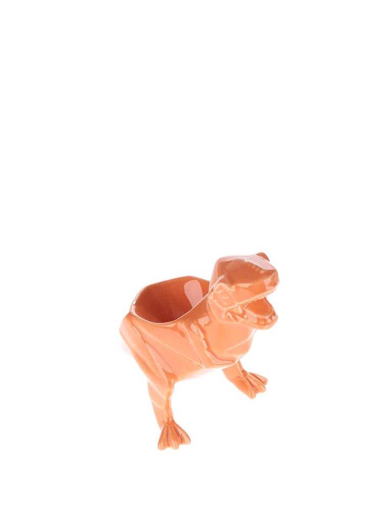 Oranžový porcelánový kalíšek na vejce Disaster Dinosaurus