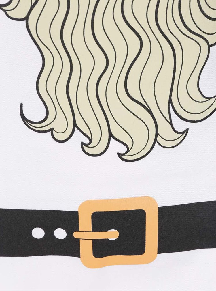 Biela zástera s potlačou brady ZOOT Originál Vousy