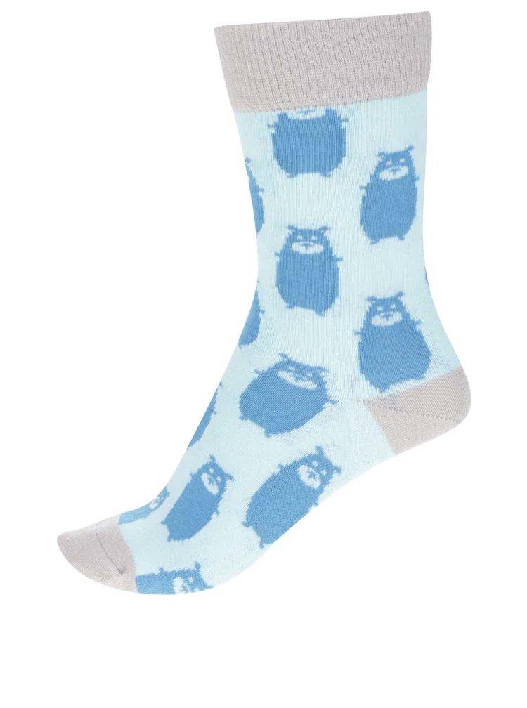 Sosete albastre ZOOT Original cu print cu ursi