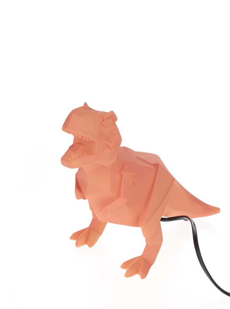 Oranžová lampa ve tvaru dinosaura Disaster Dinosaur