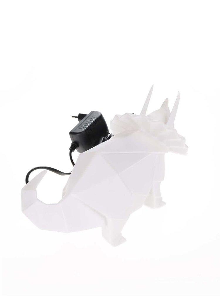 Bílá lampa ve tvaru dinosaura Disaster
