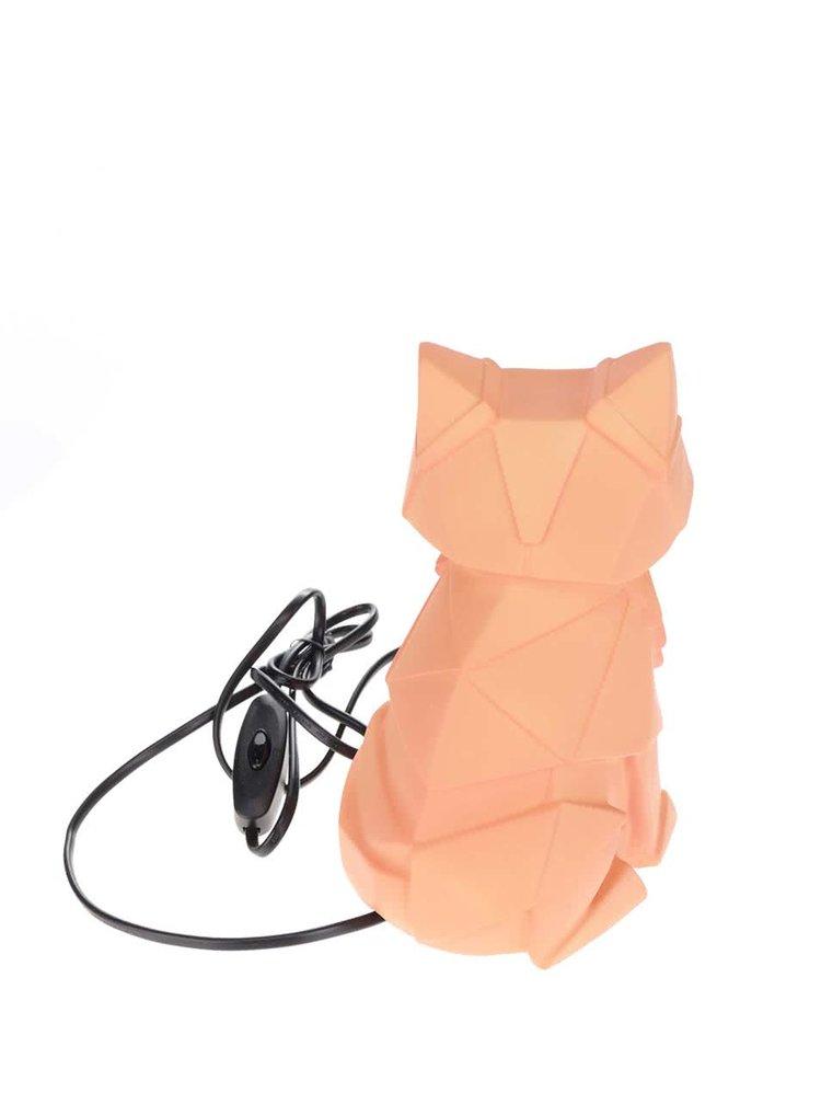 Lampa portocalie Disaster in forma de vulpe