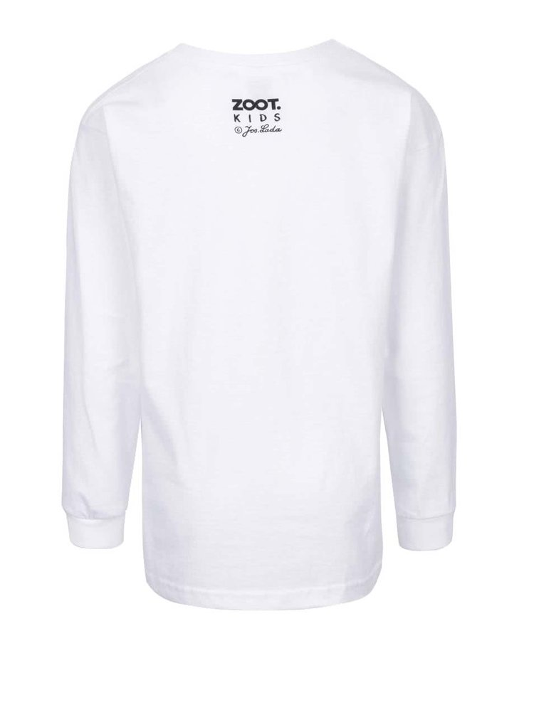 Biele detské tričko s dlhým rukávom ZOOT Kids Jos. Lada Sobíci