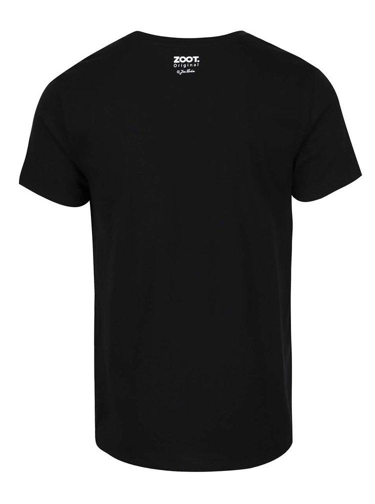Černé pánské tričko ZOOT Originál Jos. Lada Švejk s dýmkou