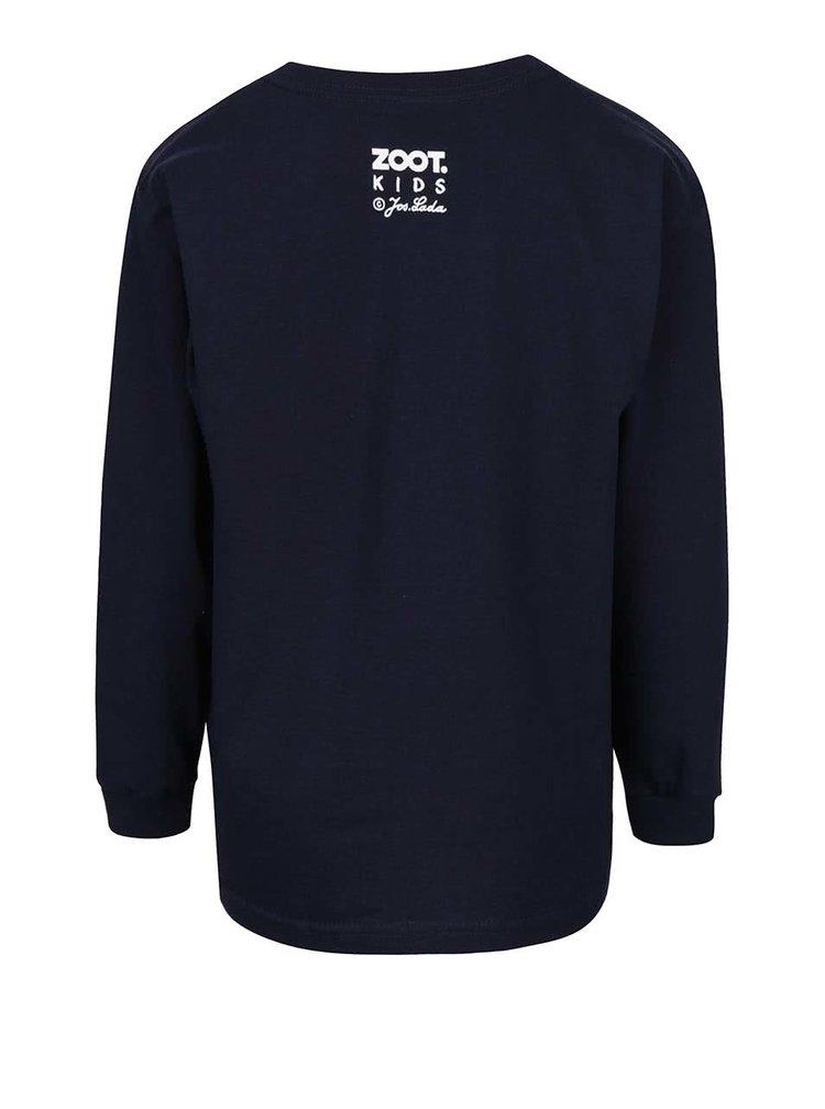Tmavě modré dětské tričko s dlouhým rukávem ZOOT Kids Jos. Lada Vánoce